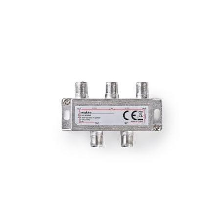 Satelitní F-Rozbočovač   Max. zisk 11,5 dB   5–2 400 MHz   4 výstupy