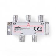 CATV F-Rozbočovač | Max. zisk 8,0 dB | 5–1 000 MHz | 4 výstupy