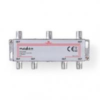 CATV Splitter | 5 - 1000 MHz | Útlum: 10.0 dB | Počet výstupů: 6 | 75 Ohm | Zinc