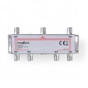 CATV F-Rozbočovač | Max. zisk 10 dB | 5–1 000 MHz | 6 Výstupů