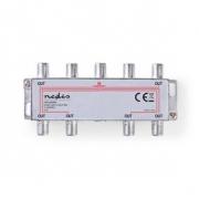 CATV F-Rozbočovač | Max. zisk 11 dB | 5–1 000 MHz | 8 Výstupů