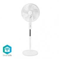 Ventilátor | Wi-Fi | 400 mm | Nastavitelná výška | Otáčí se automaticky | 3-Rychlostní | Časovač | Android™ & iOS | Bílá