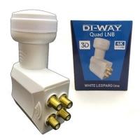 DI-WAY LNB QUAD 0,1dB, WHITE LEOPARD LINE