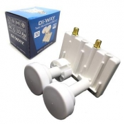 DI-WAY LNB MONO TWIN 0,1dB 4,3st, WHITE LEOPARD LINE