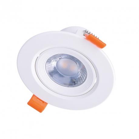 Solight LED podhledové světlo bodové, 5W, 400lm, 3000K, kulaté, 38°, bílé