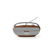 Rádio FM / BLUETOOTH NEDIS RDFM5310BN BROWN / SILVER