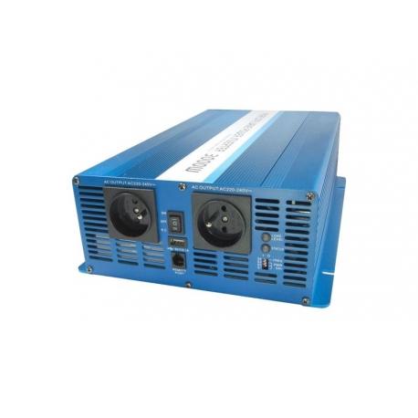 Měnič napětí 24V/230V 3000W CZ čistá sinusovka  CARSPA