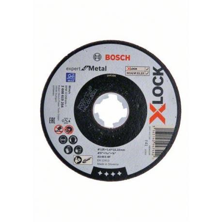 Plochý řezný kotouč Bosch Expert for Metal systému X-LOCK, 125×1,6×22,23 - 2608619254