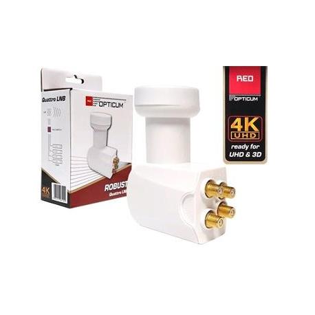 OPTICUM LNB Robust QUATTRO 0,1dB  Gold konektory F