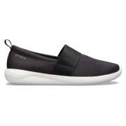 CROCS LITERIDE MESH SLIP ON WOMEN - Black/White W9 (39-40)