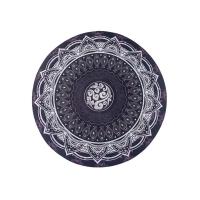 Podložka na jógu Mandala Black kulatá 70cm