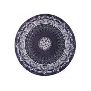 Podložka na jogu kulatá mandala Black 70cm