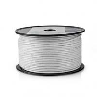 Koaxiální Kabel | Mini Coax | 75 Ohm | 1x Stíněný | Eca | 100.0 m | Kulatý | PVC | Bílá | Role