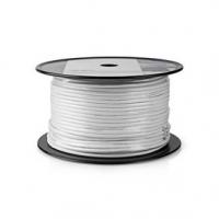 Koaxiální Kabel | RG59U | 75 Ohm | Dvojité Stínění | Eca | 10.0 m | Kulatý | PVC | Bílá | Role