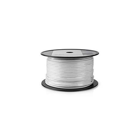 Koaxiální Kabel | RG59U | 10,0 m | Mini Cívka | Bílý