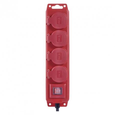 Prodlužovací kabel gumový – 4 zásuvky, 5m, 1,5mm2, IP44