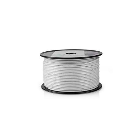 Koaxiální Kabel | Odolný proti Signálům 4G/LTE Sítí | 100 m | Cívka | Bílý