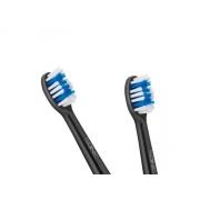 Hlavice pro zubní kartáčky TEESA SONIC BLACK 2 ks v blistru, tvrdé