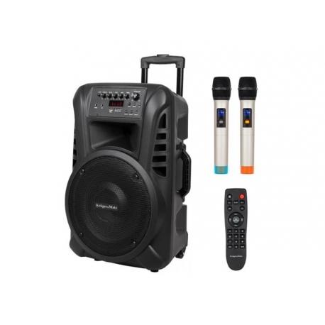 Reprosoustava přenosná KRUGER MATZ KM1712, 2x bezdrátový mikrofon, 40W