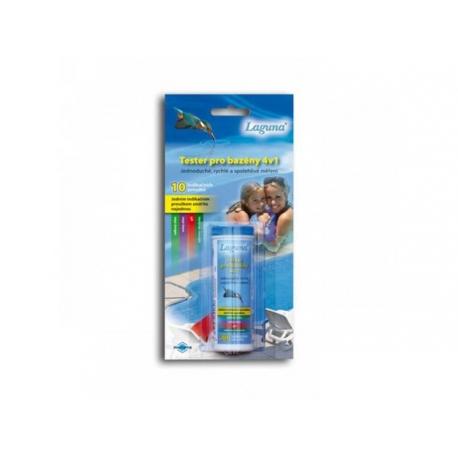 Tester na pH a chlor LAGUNA 4v1 proužkový