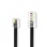 Telekomunikační Kabel | RJ11 (6P4C) Zástrčka – RJ45 (8P4C) Zástrčka | 5 m | Černý