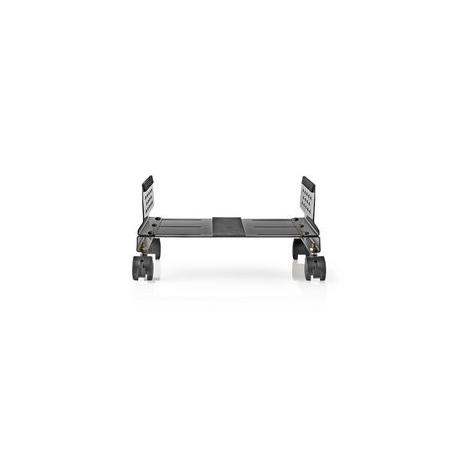 Ergonomic Desktop Stand | Adjustable Width | 4 Caster Wheels | Black