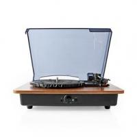 Gramofon | 33 / 45 / 78 rpm | Řemenový pohon | 1x Stereo RCA | Bluetooth® | 9 W | Vestavěný (před) zesilovač | ABS / MDF | Černá