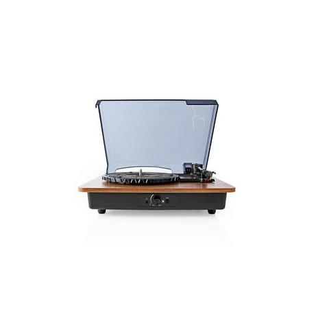 Gramofon | 18 W | Bluetooth® | Funkce Automatického Vypnutí | Kryt Proti Prachu | Hnědý