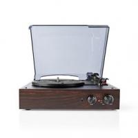 Gramofon   33 / 45 / 78 rpm   Řemenový pohon   1x Stereo RCA   18 W   Vestavěný (před) zesilovač   Převod MP3   ABS / MDF   Hněd