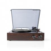 Gramofon | 18 W | Počítačový Převod | Funkce Automatického Vypnutí | Kryt Proti Prachu | Hnědý