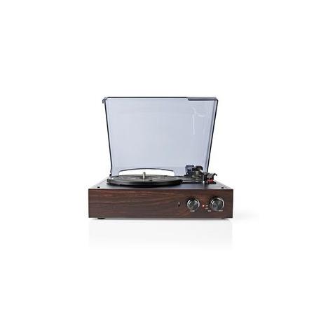 Gramofon   18 W   Počítačový Převod   Funkce Automatického Vypnutí   Kryt Proti Prachu   Hnědý