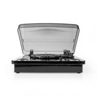Gramofon   33 / 45 / 78 rpm   Řemenový pohon   1x Stereo RCA   Bluetooth®   18 W   Vestavěný (před) zesilovač   Převod MP3   ABS
