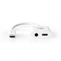USB Adaptér | USB 3.1 | USB Typ-C ™ Zástrčka | USB Typ-C™ / 3,5 mm Zásuvka | 0.15 m | Kulatý | Poniklované / Pozlacené | PVC | B