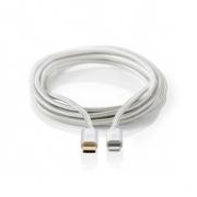 Apple Lightning Kabel | Apple Lightning 8kolíková Zástrčka – USB-C | 1 m | Hliníkový