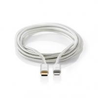 USB kabel | USB 2.0 | Apple Lightning 8pinový | USB Typ-C ™ Zástrčka | 480 Mbps | Pozlacené | 2.00 m | Kulatý | Nylon / Opletený
