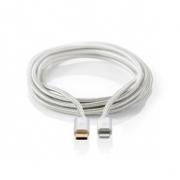 Apple Lightning Kabel | Apple Lightning 8kolíková Zástrčka – USB-C | 2 m | Hliníkový