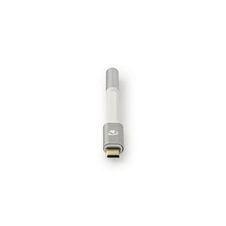 USB-C Adaptér | USB-C Zástrčka – 3,5 mm Zásuvka | 0,08 m | Hliníkový