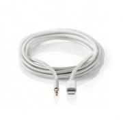 Apple Lightning Sluchátkový Kabel s Adaptérem | Apple Lightning 8kolíková zástrčka – 3,5 mm Zástrčka | 1 m | Hliníkový
