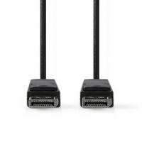 Displayport kabel | DisplayPort Zástrčka | DisplayPort Zástrčka | 8K@60Hz | Poniklované | 2.00 m | Kulatý | PVC | Černá | Plasto
