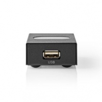 USB Switch | 2 Porty | 1x USB A | 2× USB B Zásuvka | 480 Gbps | Kov | Černá