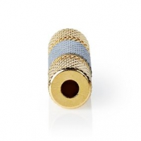 Stereo Audio Adaptér   3,5 mm Zásuvka   3,5 mm Zásuvka   Pozlacené   Přímý   Kov   Stříbrná   1 ks   Box