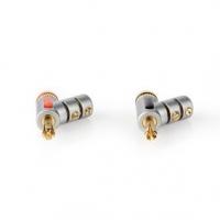 Banánkový Konektor | Přímý | Zástrčka | Pozlacené | Šroub | Průměr vstupního kabelu: 7.4 mm | Zinc Alloy | Stříbrná | 2 ks | Box