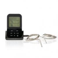 Maso Teploměr | Bezdrátové / časoměřič / Nastavení teploty / Poplach | LCD | 0 - 250 °C | Černá