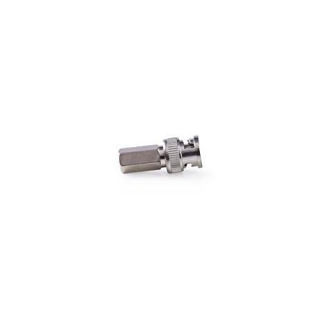 BNC Konektor | Samec | Pro 7,0mm Koaxiální Kabely | 25 ks | Kov