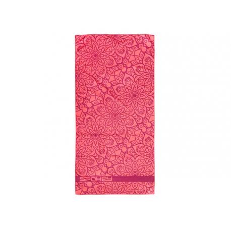 Ručník SPOKEY MANDALA rychleschnoucí plážový ručník, lososový, 80x160cm
