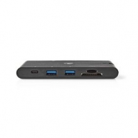 USB Adaptér | USB 3.1 | USB Typ-C™ | Micro SD / SD / 1x HDMI® / 1x RJ45 / 1x VGA / 2x USB Typ-A / 2x USB Typ-C™ | Poniklované |