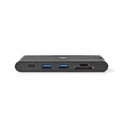 Dokovací Stanice | USB Type-C | 2x USB-C / 2x USB 3.0 / VGA / HDMI / Čtečka Paměťových Karet / Gigabitový Port Ethernet | Power
