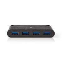USB Adaptér | USB 3.2 Gen 1 | USB Typ-C™ | 4x USB Typ-A | Poniklované | Černá | Box s Okénkem a eurozávěsem
