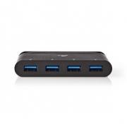 Počítačový Rozbočovač | USB Type-C | 4x USB 3.0 | Černá barva