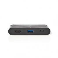 USB Adaptér | USB 3.1 | USB Typ-C™ | USB Typ-A / USB Typ-C™ / 1x HDMI® | Poniklované | Černá | Box s Okénkem a eurozávěsem
